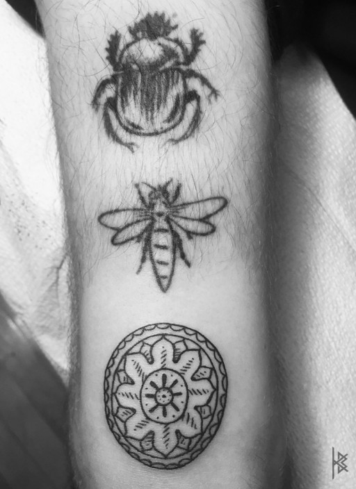 Tryptic Tattoo Left