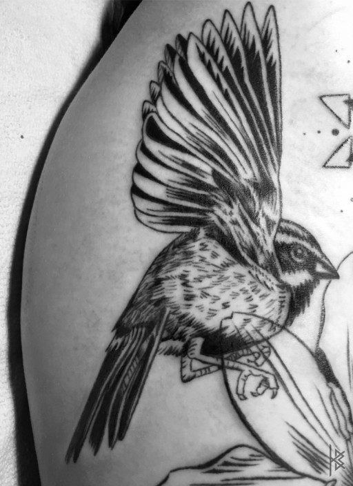 Star Flower Tattoo Detail