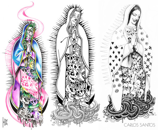 Our Lady of Sausagelupe Tattoo Illustrations