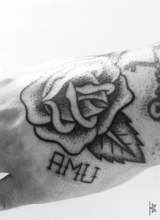Classic Rose Tattoo