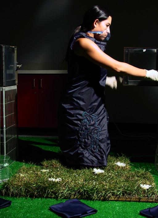 KB. ''Sleeping Bag Dress'' Photograph, 8.5''x11''. 2004
