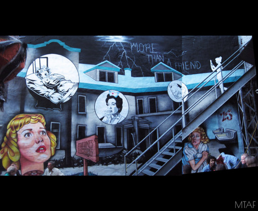 MTAF. ''Insane Asylum'' Acrylic on Wall, 30'x18'. 2008