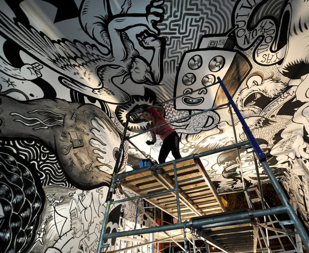 Krista Painting Ceiling