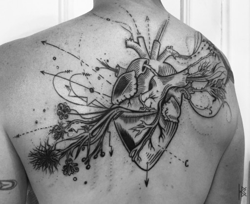 Known and Unknown Heart Tattoo (Unknown Left Side)