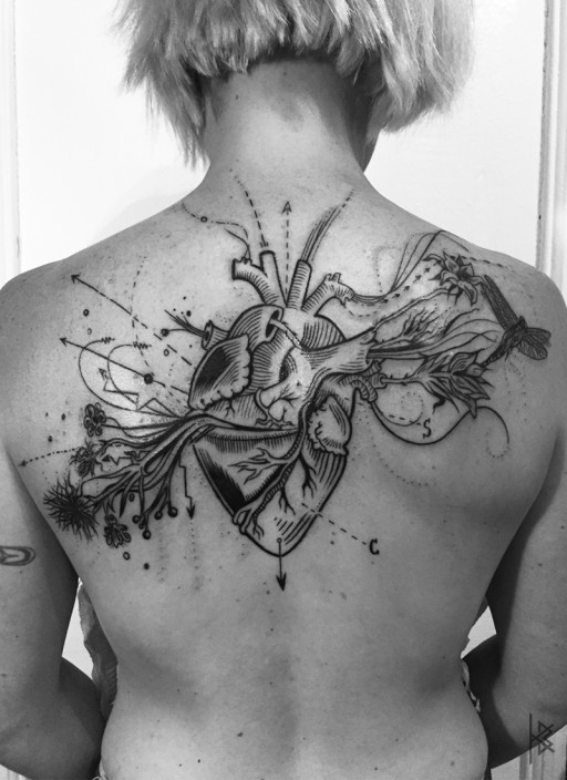 Known and Unknown Heart Tattoo
