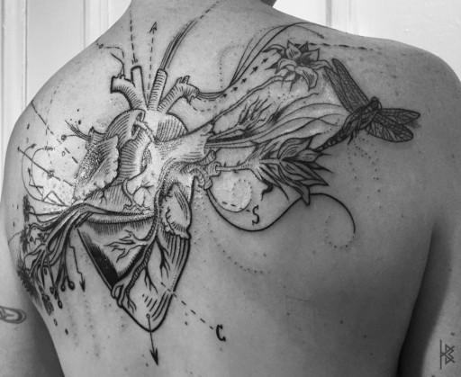 Known and Unknown Heart Tattoo (Known Right Side)