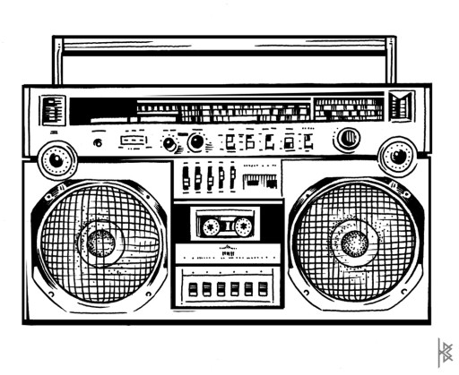 Ghettoblaster Illustration
