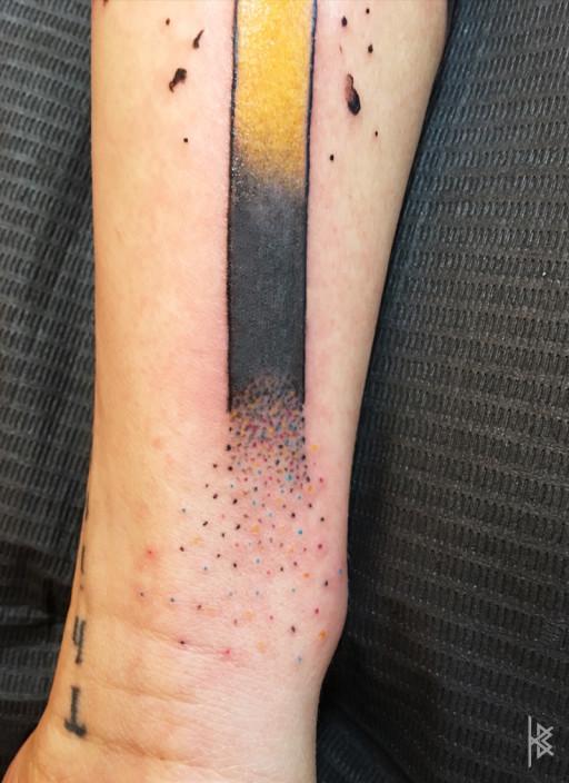Color Dots Close-Up