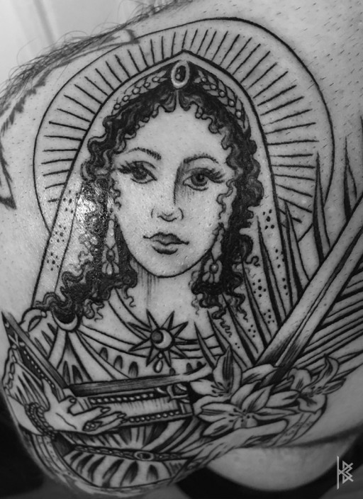 SAINT CATHERINE OF THE WHEEL DETAIL