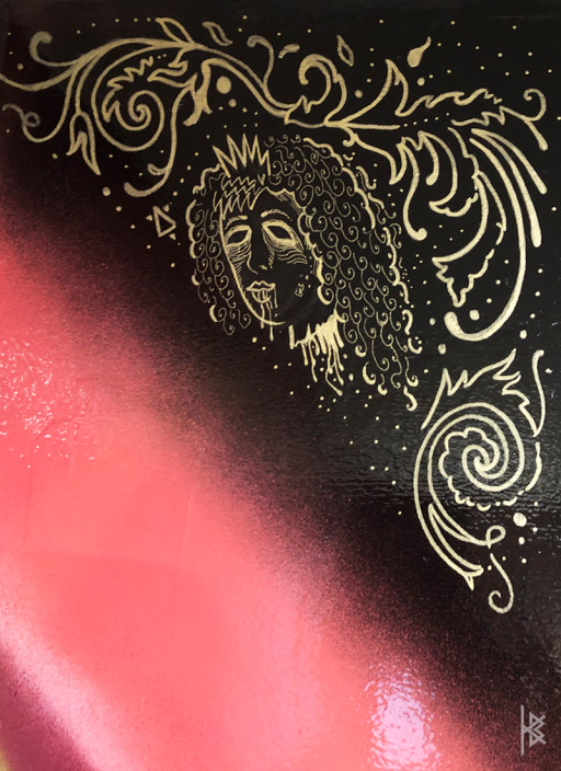 """Severed Head Detail"" Gold Acrylic Paint"